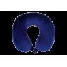 Coussin repose nuque bleu en mousse à mémoire de forme
